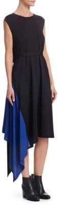 Issey Miyake Asymmetric Knit Midi Dress