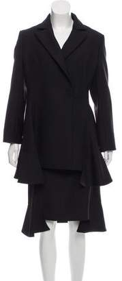 Christian Dior Virgin Wool Knee-Length Skirt Suit