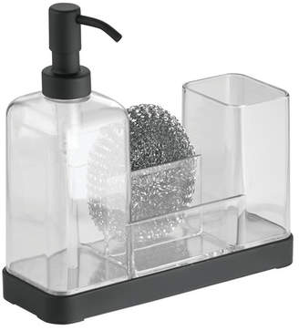Ebern Designs Jorgensen Kitchen Soap Dispenser Pump, Sponge, Scrubby and Dish Brush Caddy Organizer