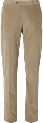 Canali Black Kei Slim-Fit Cotton-Blend Corduroy Suit Trousers