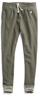 Todd Snyder + Champion Slim Sweatpant With Rib Contrast in Olive