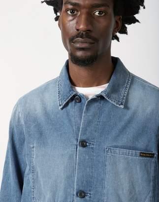 Nudie Jeans Sten Denim Overshirt Light Blue