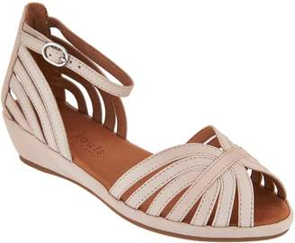 Kenneth Cole Gentle Souls By Gentle Souls Leather or Suede Peep-toe Wedge Sandals - Leah