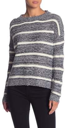 Woven Heart Marled Stripe Sweater