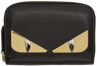 Fendi Black Bag Bugs Zip Around Wallet
