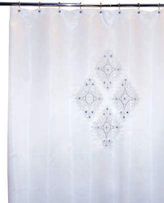 Famous Home Fashions INC. (DD) Jewel White Shower Curtain