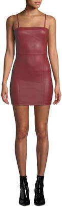 Alexander Wang Fitted Leather Cami Mini Dress