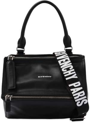 Givenchy Small Pandora Leather Bag W/ Logo Strap