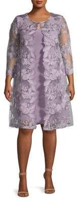 Alex Evenings Embroidered Shift Dress