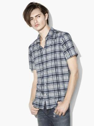 John Varvatos Plaid Short-Sleeve Shirt