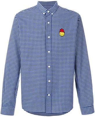 Ami Alexandre Mattiussi Button-Down Smiley Patch Shirt