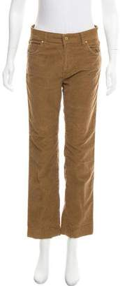 MiH Jeans Mid-Rise Corduroy Pants