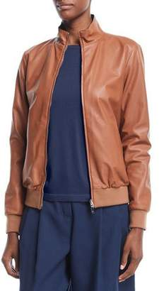 Loro Piana Reversible Storm System® & Leather Bomber Jacket