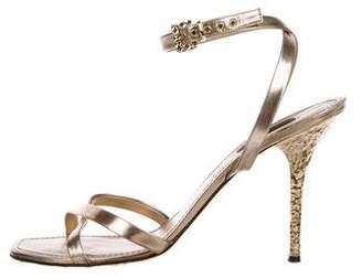 Louis Vuitton Metallic Crossover Sandals