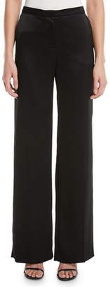 Escada Tamal Wide-Leg Satin Pants
