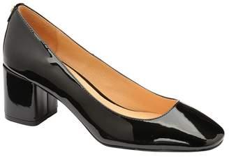 2dc1f2e78b2 Ravel - Black Patent  Barton  Block Heel Court Shoes