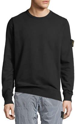 Stone Island Men's Crewneck Fleece Sweatshirt
