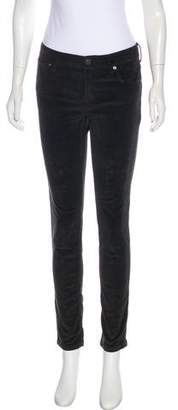 Burberry Mid-Rise Corduroy Pants