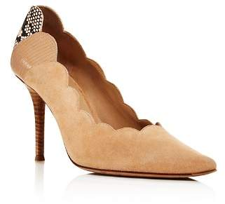 Chloé Women's Lauren Scalloped Pointed-Toe Pumps