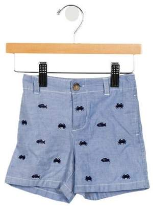 Ralph Lauren Boys' Embroidered Flat Front Shorts