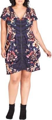 City Chic Desert Floral Tunic