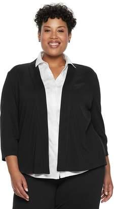 Dana Buchman Plus Size Jacquard Jacket