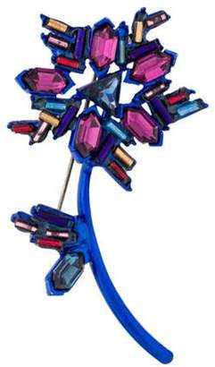 Christian Lacroix Crystal Brooch Blue Crystal Brooch