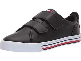 Black-t Tommy Hilfiger Unisex Kids Iconic Court Alt Sneaker 10.5 Medium US Little