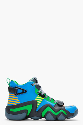 adidas BY O.C. Blue and green leather Crazy 8 Tennis shoes