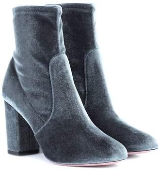 Aquazzura So Me 85 velvet ankle boots