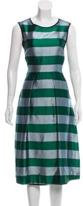 Odeeh A-Line Striped Midi Dress