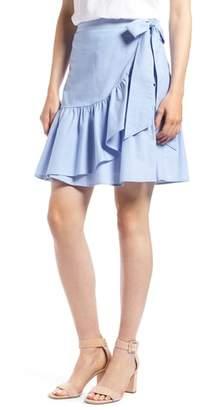 1901 Ruffle Chambray Miniskirt