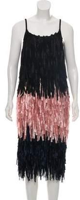 Dries Van Noten Colorblock Fringe Dress