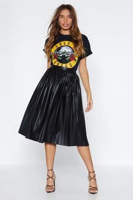 Nasty Gal We Aim to Pleat Faux Leather Skirt