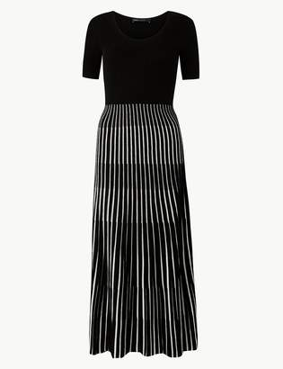 Marks and Spencer Ribbed Striped Knitted Dress