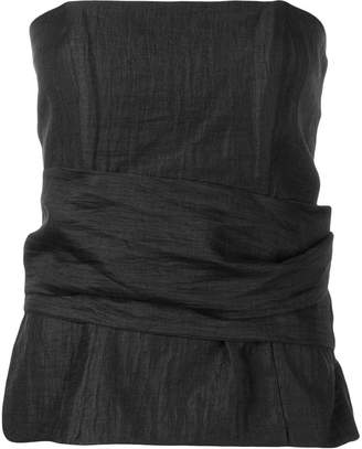 FEDERICA TOSI strapless gathered shirt