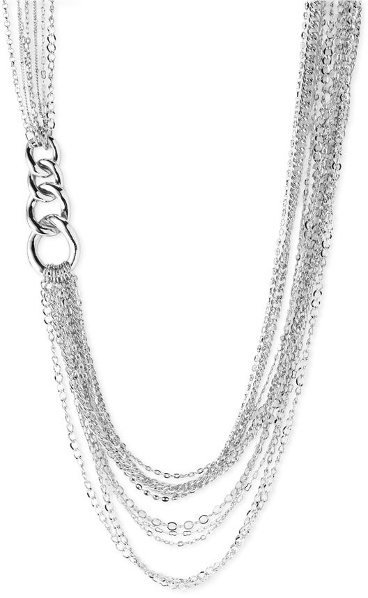 Sequin Chain Long Necklace