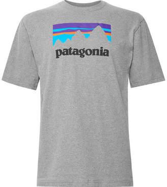 Patagonia Responsibili-Tee Logo-Print Mélange Cotton-Blend Jersey T-Shirt