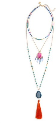 Women's Panacea Tassel Layered Necklace $48 thestylecure.com