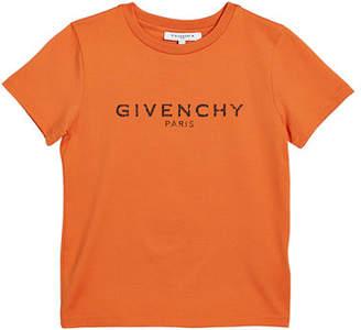 Givenchy Boy's Short-Sleeve Logo Tee, Size 12-14