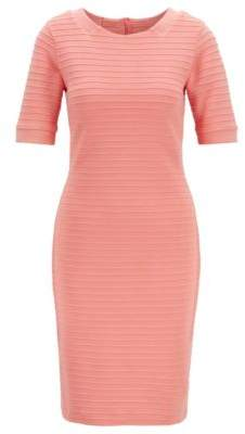 0722c3a8779 BOSS Slim-fit bodycon dress with 3D ribbed structure