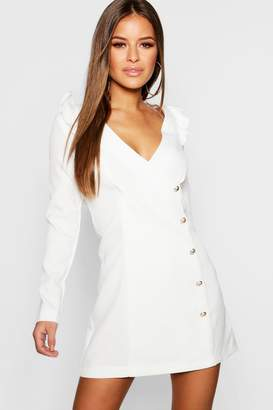 boohoo Petite Button Detail Blazer Dress