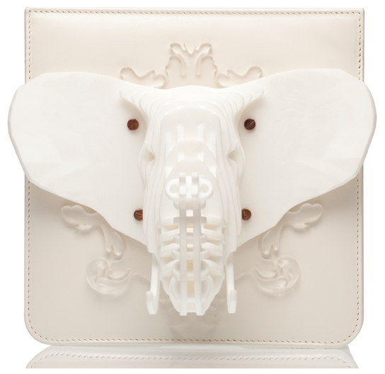 Carnet de Mode Clutch - Afrotheria-S - White