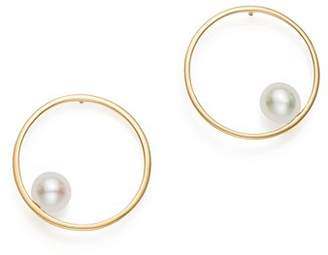 MATEO 14K Yellow Gold Cultured Freshwater Pearl Circling Earrings