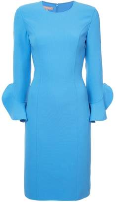 Michael Kors ruffled sleeves fitted dress