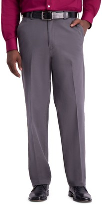 Haggar Men's Work to Weekend PRO Stretch Relaxed-Fit Flat-Front Casual Pants