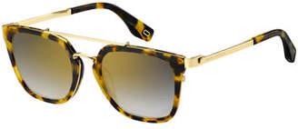 Marc Jacobs Acetate & Metal Gradient Sunglasses
