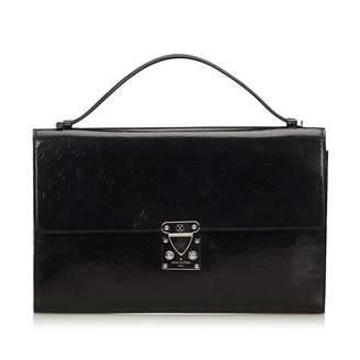 Louis Vuitton Black Patent Leather Handbag