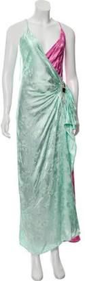 ATTICO Jacquard Slip Dress w/ Tags Mint Jacquard Slip Dress w/ Tags