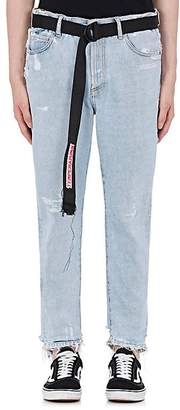 """Off-White Men's """"Temperature"""" Distressed Straight Jeans"""